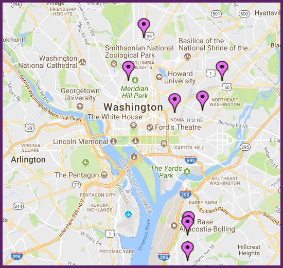 NEDP Locations in the District of Columbia